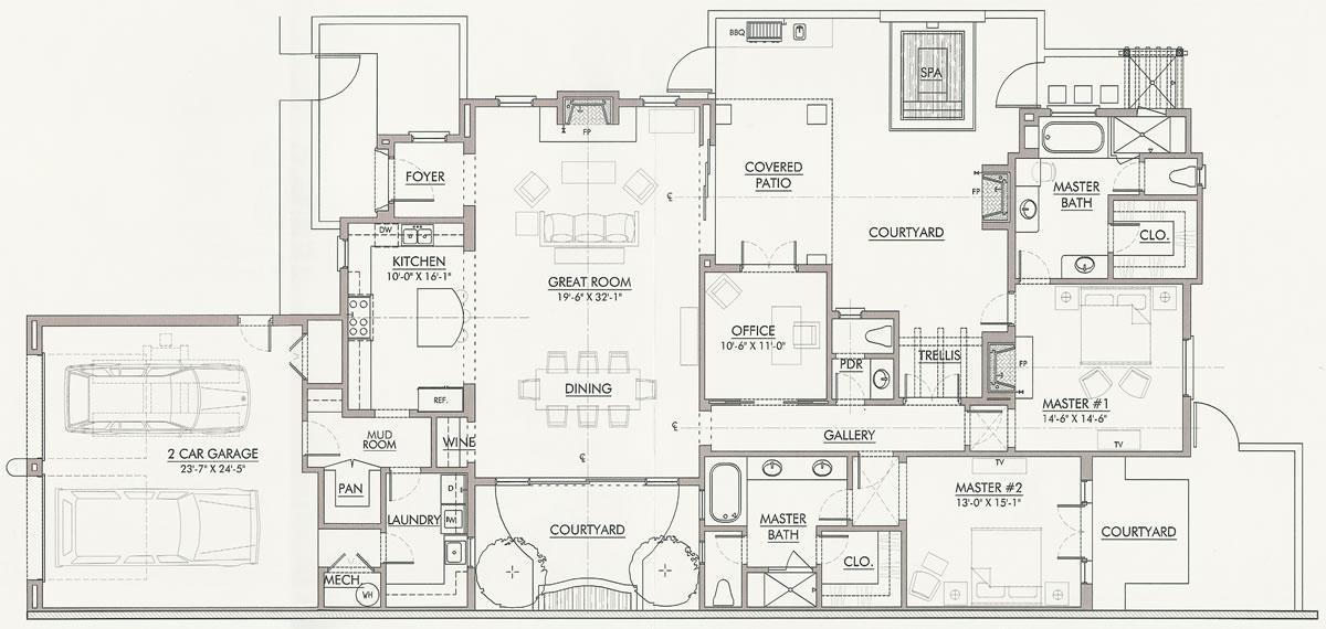 First Level Floor Plan, Villa Majorca