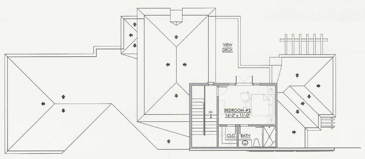 Second Level Floor Plan, Villa Palma